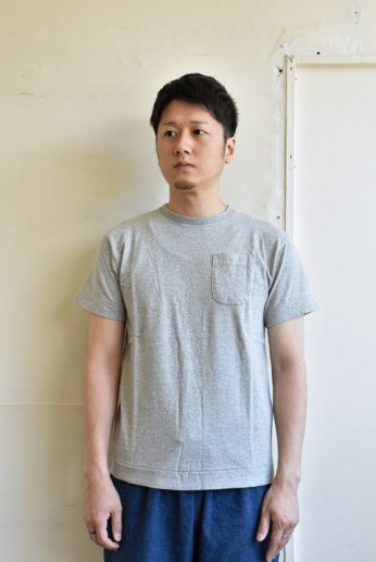 N.O.UN(ナウン) POCKET TEE MIX GRAY