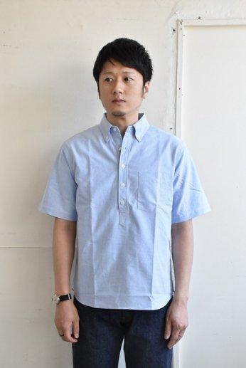 SERO(セロ)プルオーバーボタンダウンシャツ半袖 オックスフォード ブルー