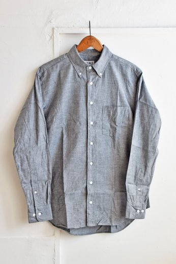 <img class='new_mark_img1' src='https://img.shop-pro.jp/img/new/icons13.gif' style='border:none;display:inline;margin:0px;padding:0px;width:auto;' />SERO(セロ)ボタンダウンシャツ シャンブレー ブラック