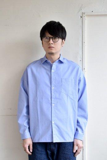 N.O.UN(ナウン) SLOPING SHIRT BLUE