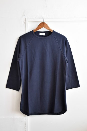 SPINNER BAIT(スピナーベイト)ミニ裏毛ラグランクルー7分袖 スミクロ