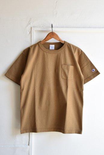 Champion(チャンピオン) T1011 ポケット付きTシャツ モカ