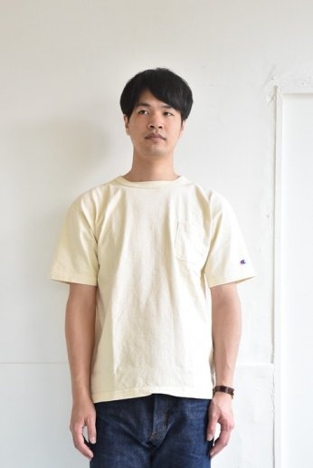 Champion(チャンピオン) T1011 ポケット付きTシャツ ナチュラル