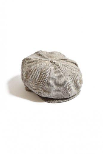 Hanna Hats(ハンナハッツ) Eight Piece Cap Linen グレンチェック