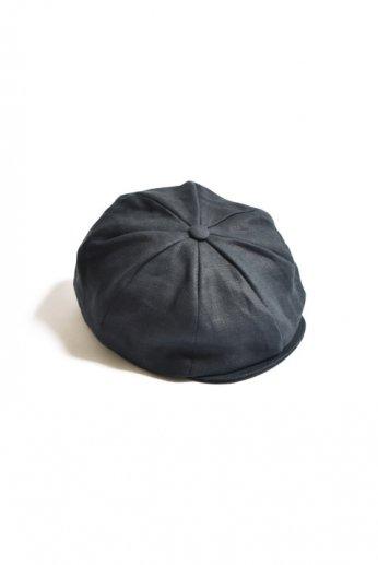 Hanna Hats(ハンナハッツ) Newsboy Cap Irishlinen ブラック
