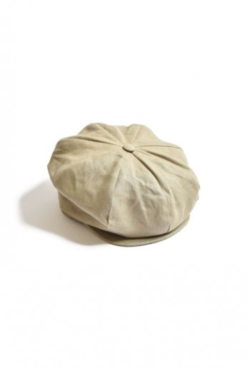 Hanna Hats(ハンナハッツ) Eight Piece Cap Linen コーヒー