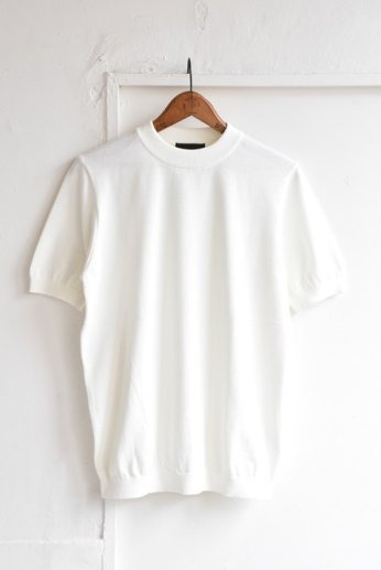 Rinascente(リナシェンテ) モックネック半袖(綿ポリ) ホワイト