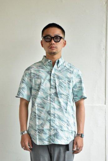 HARRISS(ハリス)  HAWAII ハワイアンボタンダウンシャツ Surfing ブルー