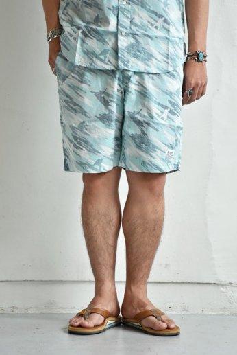 HARRISS(ハリス)  HAWAII ハワイアンイージーショーツ ブルー