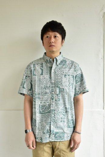 HARRISS(ハリス)  HAWAII ハワイアンボタンダウンシャツ グリーン