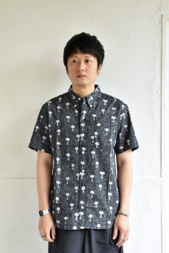 HARRISS(ハリス)  HAWAII ハワイアンボタンダウンシャツ ブラック