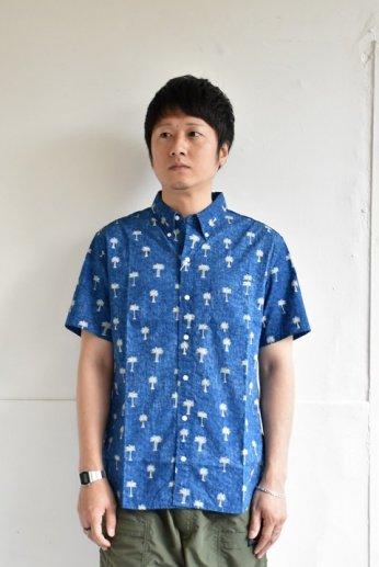 HARRISS(ハリス)  HAWAII ハワイアンボタンダウンシャツ ネイビー
