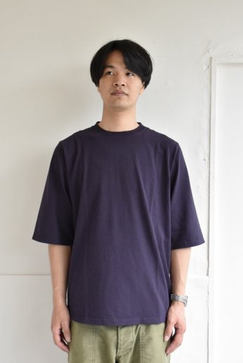 Jackman(ジャックマン) 1/2-Sleeved T-Shirt ハーフスリーブTシャツ Dark Purple