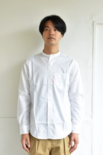 HARRISS(ハリス) バンドカラーシャツ ホワイト