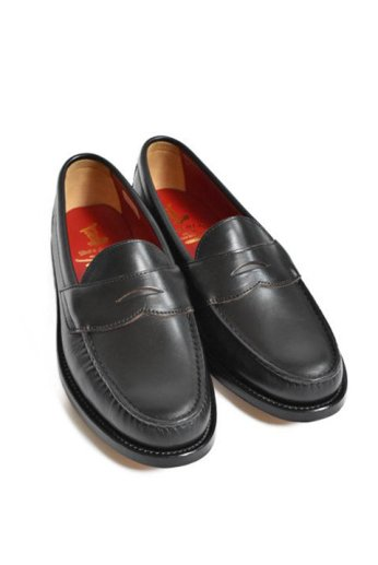 <img class='new_mark_img1' src='https://img.shop-pro.jp/img/new/icons13.gif' style='border:none;display:inline;margin:0px;padding:0px;width:auto;' />Regal Shoe&Co(リーガルシューアンドカンパニー)Genuine Moccasin Coin Loafer ブラック