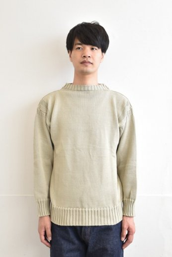 <img class='new_mark_img1' src='https://img.shop-pro.jp/img/new/icons13.gif' style='border:none;display:inline;margin:0px;padding:0px;width:auto;' />GUERNSEY WOOLLENS(ガンジーウーレンズ) COTTON TRADITIONAL GUERNSEY ポリッジ