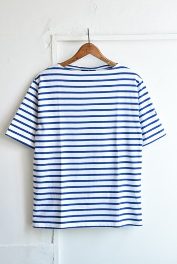 Saint James(セントジェームス) PIRIAC(ピリアック)半袖Tシャツ  NEIGE/GITANE(白×コバルトブルー)