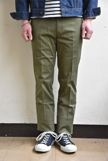 JAPAN BLUE JEANS(ジャパンブルージーンズ) SLIM  STRETCH FRENCH WORK TROUSERS オリーブ