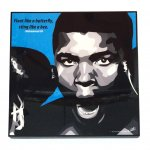 アートパネル・Muhammad Ali(Float like a butterfly,sting like a bee)