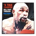 アートパネル・ Floyd Mayweather (A TRUE CHAMPION)