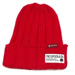 ACRYLIC KNIT CAP(RED) / アクリル ニットキャップ(赤)