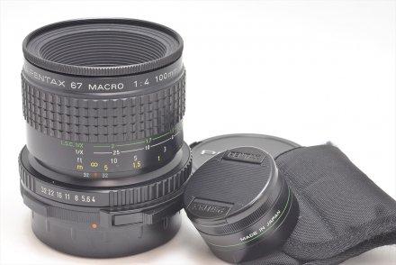 67用 SMCP 100/4マクロ ライフサイズコンバーター付 【レンズ専門業者にて清掃済】