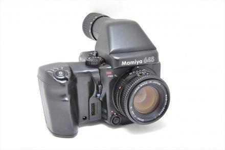 マミヤ645プロTL+C80/2.8N+ワインダーグリップ+120ロールホルダー+AEファインダーセット 【レンズ清掃済】