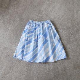 ank211 マクモプリントギャザースカート(kids size/M)