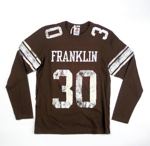 ナンバリング「30」<br>FOOTBALL  LONG T-SHIRTS<br>CHOCOLATE<img class='new_mark_img2' src='https://img.shop-pro.jp/img/new/icons20.gif' style='border:none;display:inline;margin:0px;padding:0px;width:auto;' />