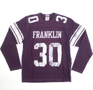 ナンバリング「30」<br>FOOTBALL  LONG T-SHIRTS<br>AUBERGINE<img class='new_mark_img2' src='https://img.shop-pro.jp/img/new/icons20.gif' style='border:none;display:inline;margin:0px;padding:0px;width:auto;' />