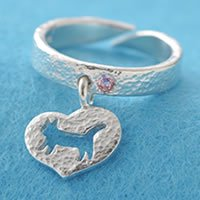 ハート猫リング指輪