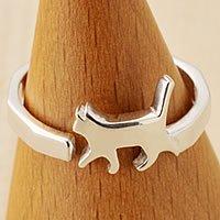 猫指輪リング(角)