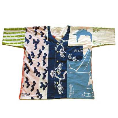 手ぬぐい半袖シャツ(伊右衛門)