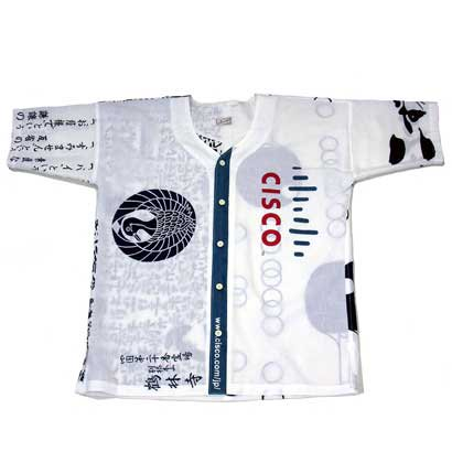 手ぬぐい使用半袖シャツ(アメニモマケズ)