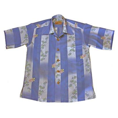化繊絽のアロハシャツ(S)
