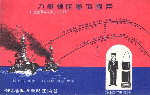 帝国海軍砲弾威力絵葉書(祝三十...