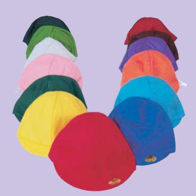 園児用カラー帽子・裏白