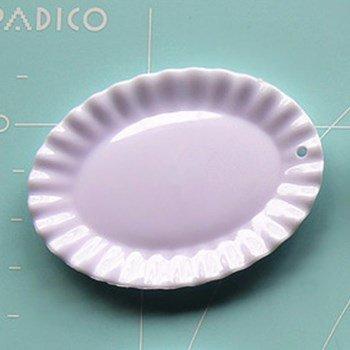 デコ用素材 ミニチュア食器フリル大皿 オーバル