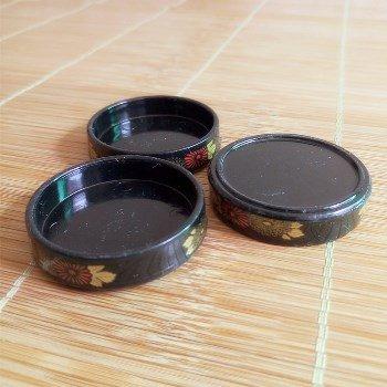 デコ用素材 ミニチュア寿司桶(お寿司のお盆)10個セット