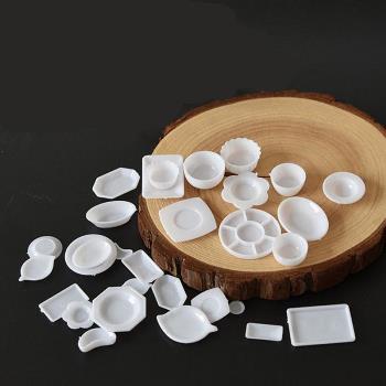 デコ・ミニチュア ミニミニホワイトプラ皿食器 33個セット