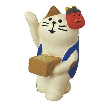 concombre コンコンブル 豆まき三毛猫