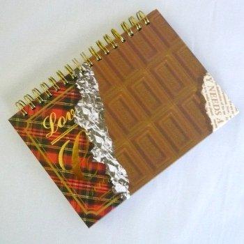 A6Wリングノート チョコレート