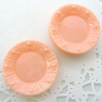 スイーツデコ用素材 ミニチュア皿 ピンク