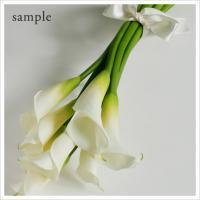 白いカラーのアームブーケ(生花)