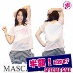 MJ-☆裏付きメッシュラグランTシャツ