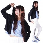 MJ☆レディース-ショート丈パーカー(ブラック)<img class='new_mark_img2' src='https://img.shop-pro.jp/img/new/icons31.gif' style='border:none;display:inline;margin:0px;padding:0px;width:auto;' />