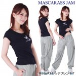 MJ☆ストレッチフレンチT(ブラック)<img class='new_mark_img2' src='https://img.shop-pro.jp/img/new/icons24.gif' style='border:none;display:inline;margin:0px;padding:0px;width:auto;' />