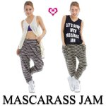 MJ☆裾ギャザー入りボーダーサルエルパンツ<img class='new_mark_img2' src='https://img.shop-pro.jp/img/new/icons24.gif' style='border:none;display:inline;margin:0px;padding:0px;width:auto;' />
