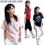 MJ☆シルバーハート肩メッシュT