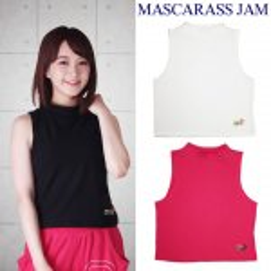 MJ☆MD刺繍ハイネックノースリタンク